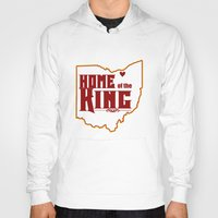 lebron Hoodies featuring Home of the King (White) by Denise Zavagno
