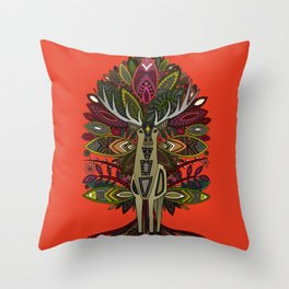 woodland prince fire orange Throw Pillow