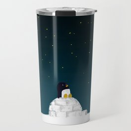 Star gazing - Penguin's dream of flying Travel Mug