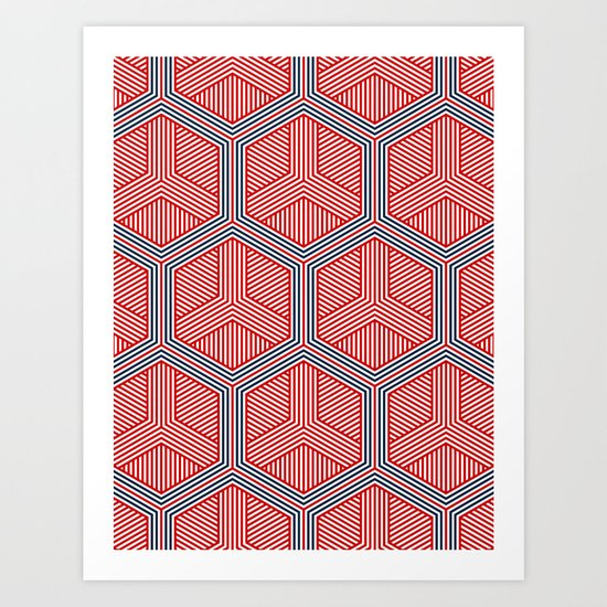 Hexagon No. 2 Art Print