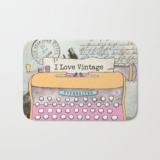 Typewriter #1 Bath Mat