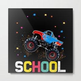 Monster Trucks Freshmen Gifts Design Metal Print