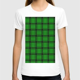 Large Green Weave T-shirt