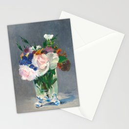 """Édouard Manet """"Flowers in a Crystal Vase"""" Stationery Cards"""