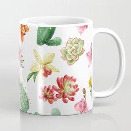 Watercolor Cacti Pattern Coffee Mug