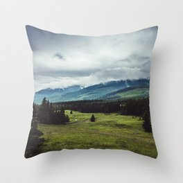 Mountain Trail - Landscape and Nature Photography Throw Pillow