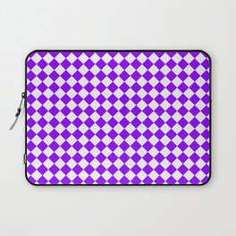 Small Diamonds - White and Violet Laptop Sleeve