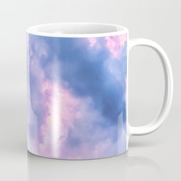 Pastel Purple Lilac Fluffy Fantasy Fairytale Sunset Clouds In The Sky Coffee Mug