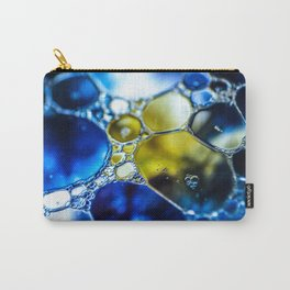 Yellow spotted blue Carry-All Pouch