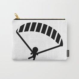 Parachuting Stickman Carry-All Pouch
