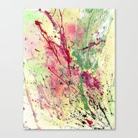 champagne Canvas Prints featuring Champagne by Vinn Wong - Original Abstract Art