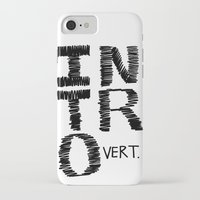 introvert iPhone & iPod Cases featuring Introvert by Lizzi Davis