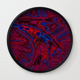 Sapphire Ruby Fractal Wall Clock