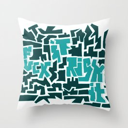 Fuck It, Risk It Throw Pillow