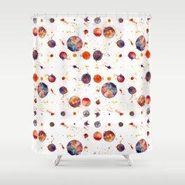 watercolor bubbles Shower Curtain