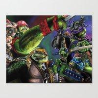 teenage mutant ninja turtles Canvas Prints featuring Teenage Mutant Ninja Turtles by artbywilliam