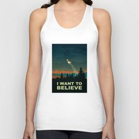i want to believe Tank Tops featuring I want to believe by mangulica