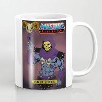 skeletor Mugs featuring Skeletor by W. Keith Patrick