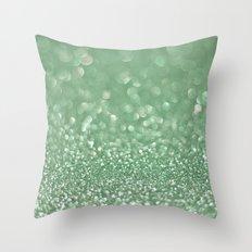Seafoam bokeh Throw Pillow