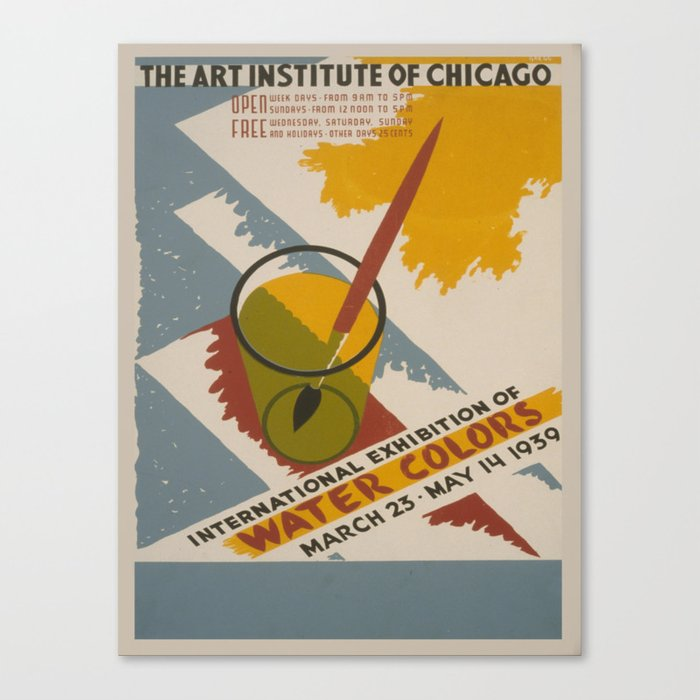 Vintage poster - International Exhibition of Water Colors Leinwanddruck
