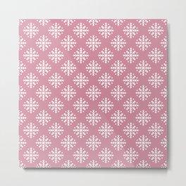 White Snowflakes 4 Metal Print