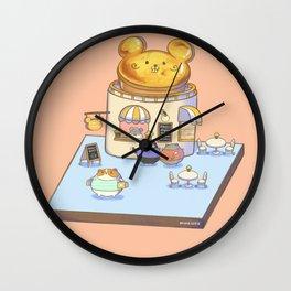 Cute Mouse's Cheese Tart Shop Wall Clock