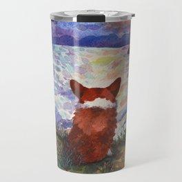 Corgi - sunset adorer Travel Mug