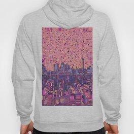 san antonio city skyline abstract 5 Hoody