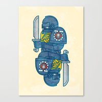 warhammer Canvas Prints featuring Space Marine - Warhammer 40k by M. Gulin