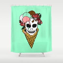Hella Mint Shower Curtain
