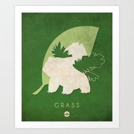 POKÉMON Grass Art Print