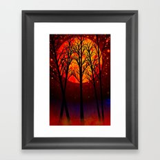 A SOLSTICE MOON - 118 Framed Art Print