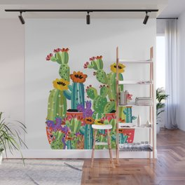 Cacti Love Wall Mural