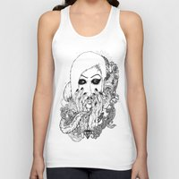 goth Tank Tops featuring goth love by Jess John