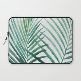 Emerald Palm Fronds Watercolor Laptop Sleeve