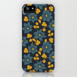Floral pattern. Hepatica flowers iPhone Case