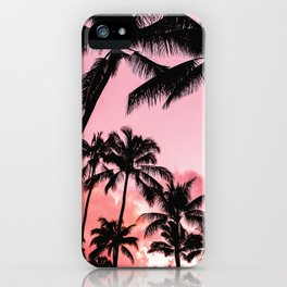 Tropical Trees Silhouette iPhone Case