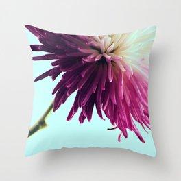 Exotic Fuchsia Chrysanthemum Throw Pillow
