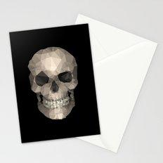 Polygons skull black Stationery Cards