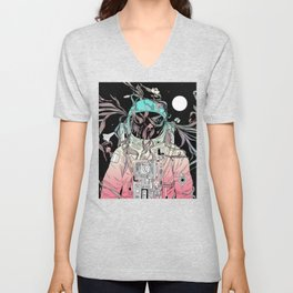 Life is Invading My Space Unisex V-Neck