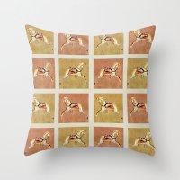 victorian Throw Pillows featuring Victorian by LittleBirds