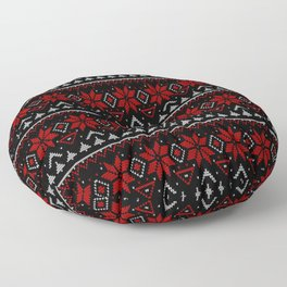 Scandinavian, knitting Floor Pillow