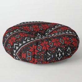 Scandinavian knitting Christmas ugly sweater ornamental decor Floor Pillow