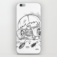 "skate iPhone & iPod Skins featuring ""Skate"" by Jorge Daszkal"