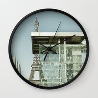 eiffel Wall Clocks featuring Eiffel by Sébastien BOUVIER