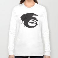 how to train your dragon Long Sleeve T-shirts featuring How to train your dragon  by Shouho