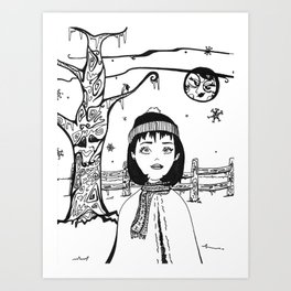 Margot and the Moon Art Print