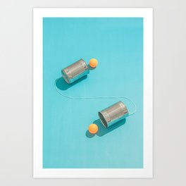 Ping Pong Talk Art Print
