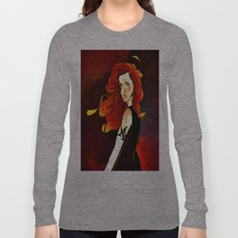Clary Fray from The Mortal Instruments by Cassandra Clare Long Sleeve T-shirt
