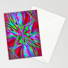 Colorfoil Radiates Red Stationery Cards